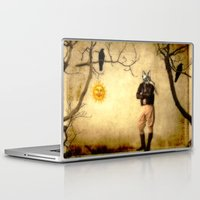 pilot Laptop & iPad Skins featuring The Pilot by The Strange Days Of Gothicrow