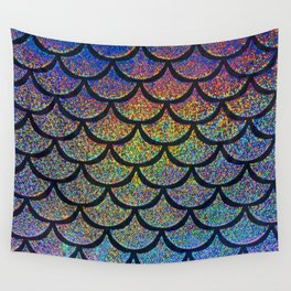 Cobalt Cantaloupe Scales Wall Tapestry