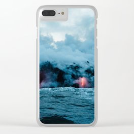 Vulcano ocean Clear iPhone Case