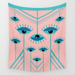 Unamused Eyes - Art Deco Wall Tapestry