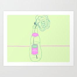Rose and Pink Lemonade Art Print