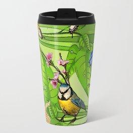 Birdy & Fishy spring blue Travel Mug