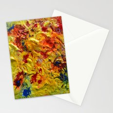 Abstract Yellow Swirls Stationery Cards