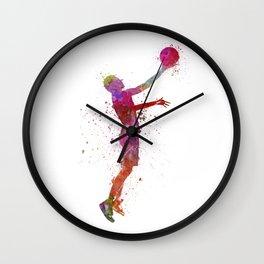 young man basketball player Wall Clock