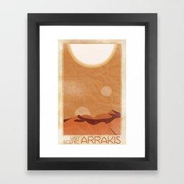 Visit Scenic Arrakis - Distressed Vintage Travel Poster Framed Art Print