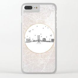 Tallahassee, Florida City Skyline Illustration Drawing Clear iPhone Case