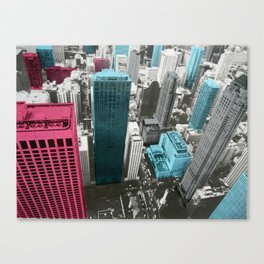 Chicago City-red Canvas Print