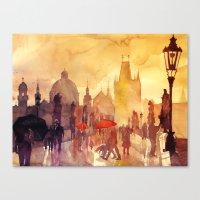 takmaj Canvas Prints featuring Charles Bridge by takmaj