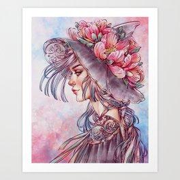 Spring Wind Witch Art Print