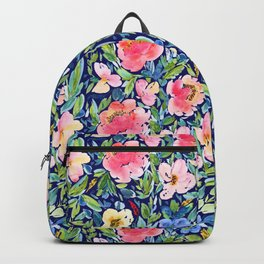 Dark Floral Bloom Backpack