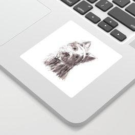 Bon Bon - the cat-like dog Sticker