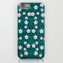 porcelain flowers  on leaves iPhone Case