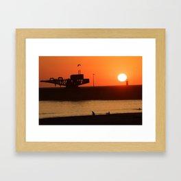 Sunset at Porto, Portugal Framed Art Print