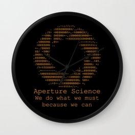 Aperture Science Wall Clock