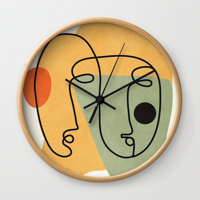 Abstract Faces 19 Wall Clock