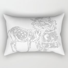 Alice and the Fawn in White Rectangular Pillow