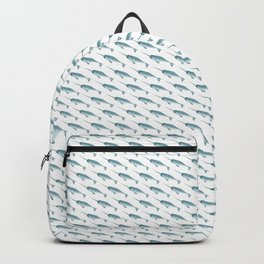 Narwhal on White Backpack