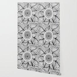 Doodle Flower Wallpaper