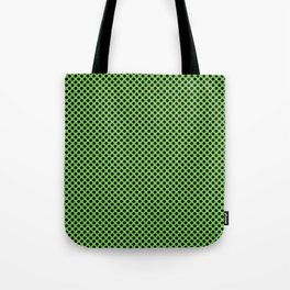 Green Flash and Black Polka Dots Tote Bag