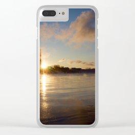 Näsijärvi Sunset, Tampere, Finland Clear iPhone Case