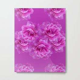 Purple Peony Flower Bouquet #1 #floral #decor #art #society6 Metal Print