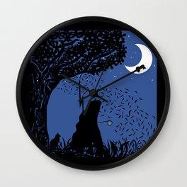 A Halloween night under the moon Wall Clock