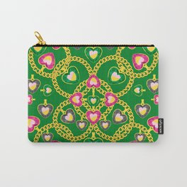 Golden Chains and Luxurious Jewelry Pattern Carry-All Pouch