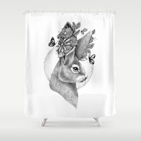 hare Shower Curtains featuring HARE by Thiago Bianchini