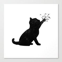 Poetic cat Canvas Print