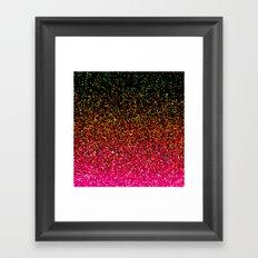 Confetti Glitter Sparkle Splatter Pink Orange Yellow Framed Art Print
