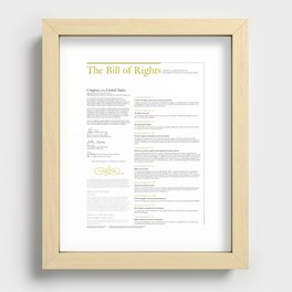 The Bill of Rights (extended version) Recessed Framed Print