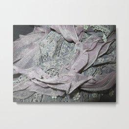 Silver Sash Metal Print