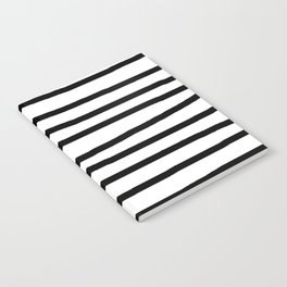 Simply Drawn Stripes in Midnight Black Notebook