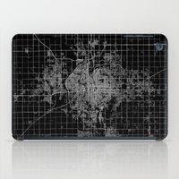 kansas iPad Cases featuring Wichita map Kansas by Line Line Lines