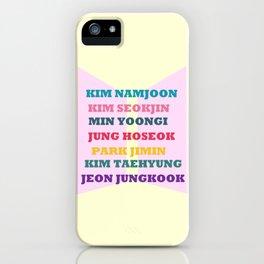 BTS FAN CHANTS  iPhone Case