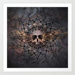 Skull Mandala Art Print