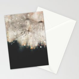 dandelion silver and black Stationery Cards