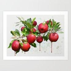 Melting Apples Art Print