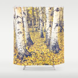 Golden Floor Shower Curtain