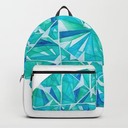 Blue Green Round Gem Backpack