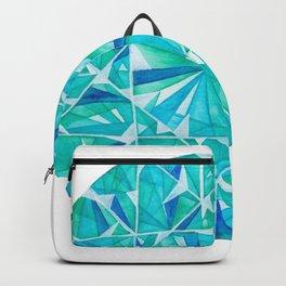 Blue Green Round Gem Backpack