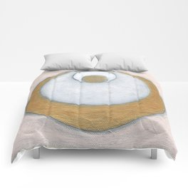 Gold Pink Moon Comforters
