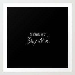 Tyler Joseph- Stay Alive Art Print