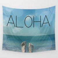aloha Wall Tapestries featuring ALOHA by mark ashkenazi
