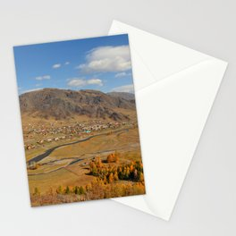 autumn Altai Mountains Stationery Cards