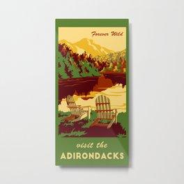 Visit the Adirondacks Towel Metal Print