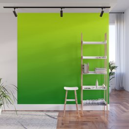 Bright Chartreuse Green Ombre Wall Mural