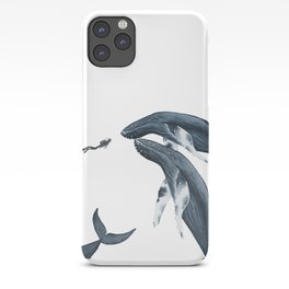 humpback whale hello iPhone Case