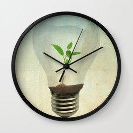 green ideas Wall Clock