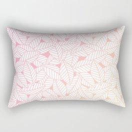Leaves in Sunset Rectangular Pillow